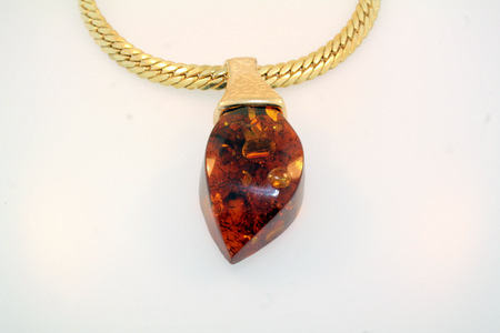 Amber Freeform Pendant - Hand crafted, freeform cap made to accommodate amber