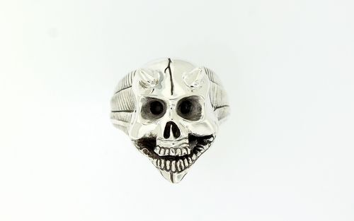 Custom Hand Carved Skull Ring - 4