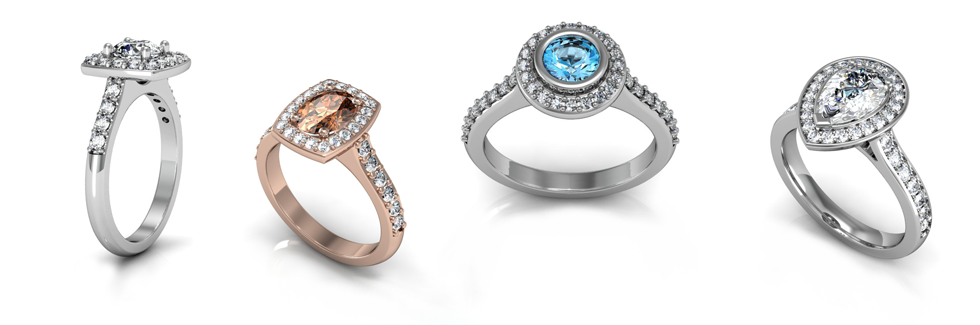 Halo Style Engagement Rings - Custom crafted halo rings